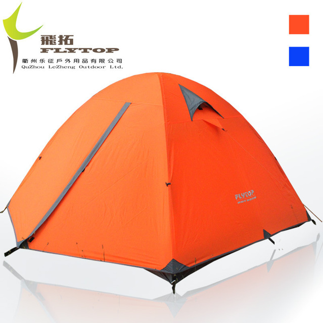 FlyTop high quality double layer aluminum rod three person waterproof c&ing tent beach tent  sc 1 st  AliExpress.com & FlyTop high quality double layer aluminum rod three person ...