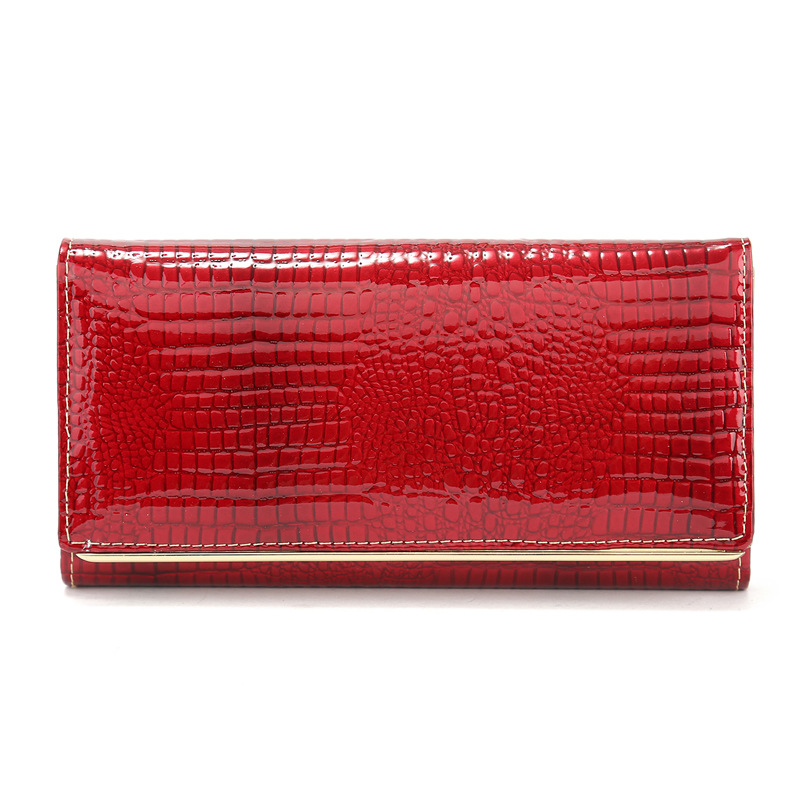 CHARA S BAG brand Serpentine women s wallets Genuine Cow Leather Long clutch Patent leather High capacity Storage Female Bag in Wallets from Luggage Bags