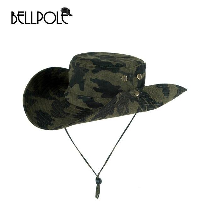 fc3dda4877b New Summer Bucket Hat Casual Fishing Hat Flat Chapeu Pescador 6 Color  Camouflage Militaryflat Hats Bucket Hat Hip Hop