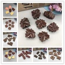 Resin simulation food kawaii chocolate  flatback cabochon for phone decoration DIY Craft