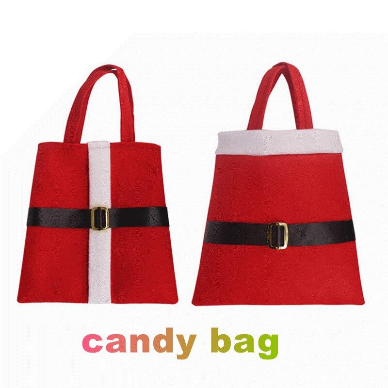 Hot sale christmas santa candy bags xmas decoration sack