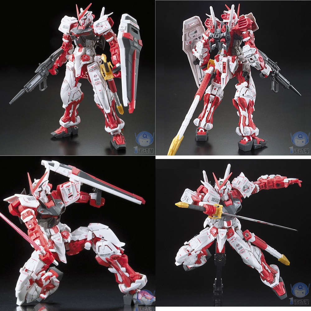Original Gundam Model RG 1/144 ASTRAY RED FRAME Justice Freedom 00 Destiny Armor Unchained Mobile Suit Kids Toys