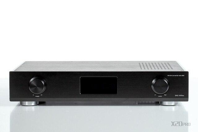 R-069 GUSTARD DAC X20 Pro Hi-end Coaxial Optical AES EBU IIS DAC 2*ES9028Pro Chip+XMOS USB DSD DAC PC HiFi 32bit/384KHz