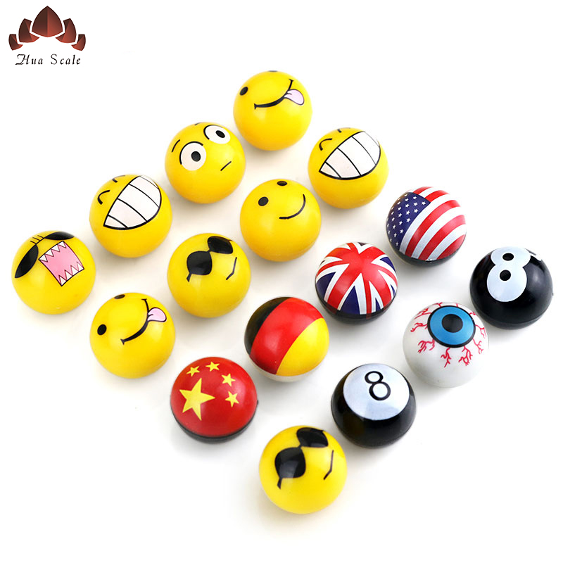 4Pcs Car Styling Valve Accessories Modified Gas Cap Funny Smiley Tire Cap Personality Ball Valve Cap Mouth Cover Free Shipping