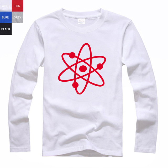 Atomic Structure Science Atom Symbol Clip Art Diagram Model Couple Clothes Woman Sports Long Sleeve T