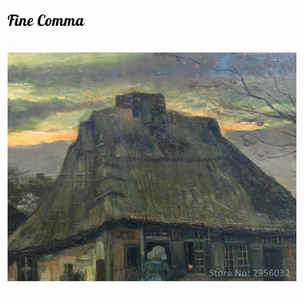 Vikendica De Hut 1885. Vincent van Gogh Ručno oslikana slika uljem - Kućni dekor - Foto 3