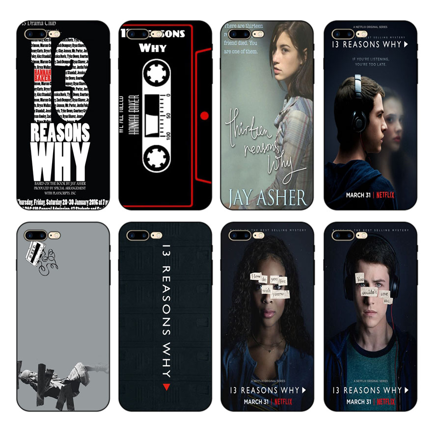 HOUSTMUST Thirteen Reasons Why  Soft case For iPhone 8 8plus XS max XR 7 7plus 6 6s 6plus 5 5s SE phone
