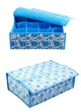 12 Cells Storage Boxes For Folding Underwear Storage Box Holder Bra Tie Socks Divider Closet Organizer Case With Cover Boxes
