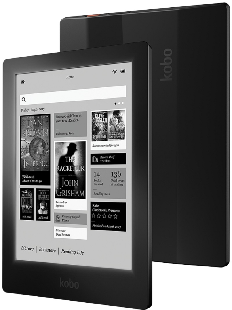 Kobo Aura HD ereader 6.8 7 inch 1440×1080 Touch screen e Book Reader e-ink LED Front Light e Book Reader
