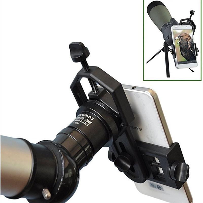 Universal Microscope Telescope Phone Holder For Iphone 7 6S SE Samsung Galaxy S8 S7 Edge Xiaomi Alloy Smartphone Stand Adapter