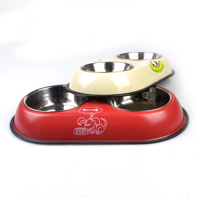 Dog's Double Stainless Steel Bowl