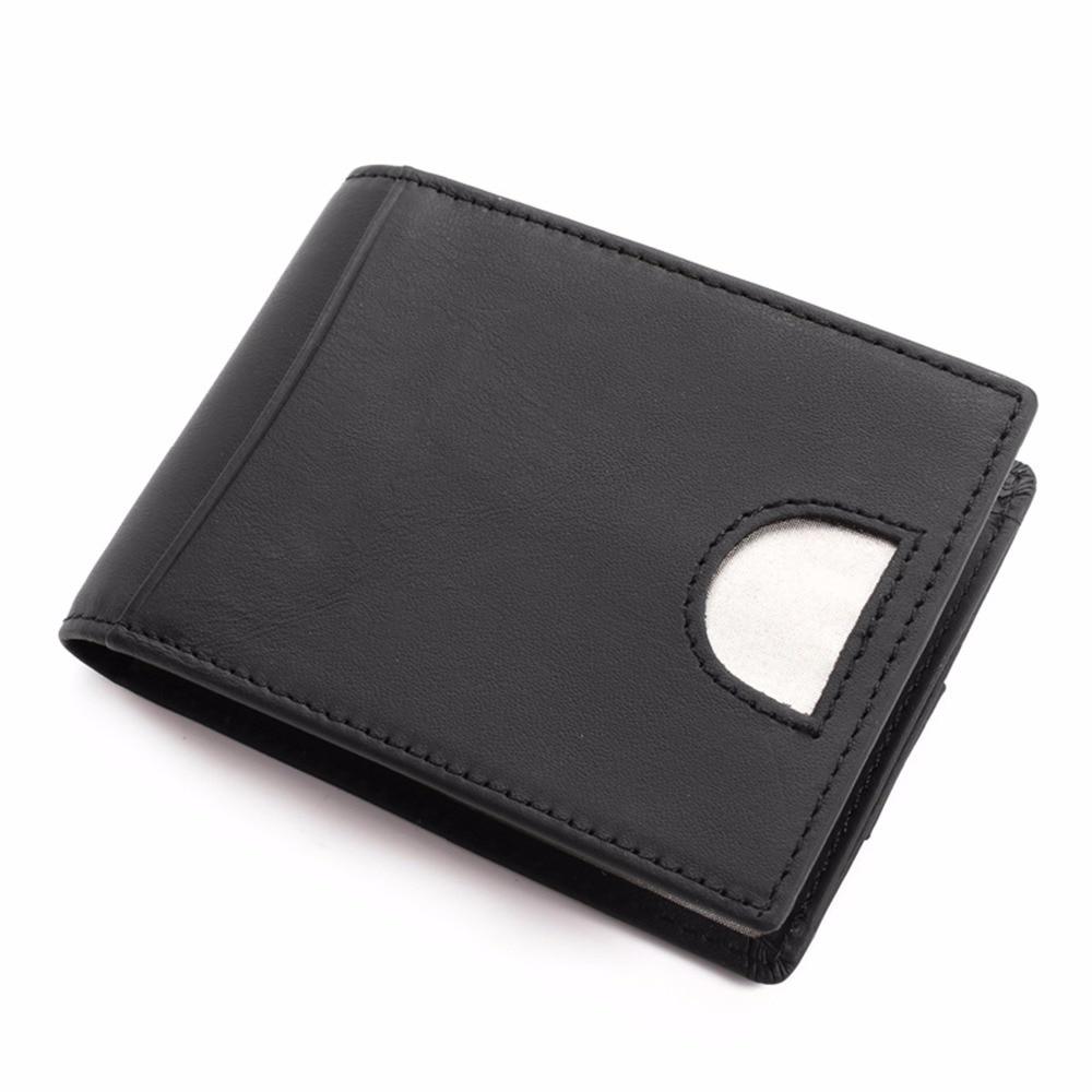 Genuine Leather Bifold Wallets for Men Thin Slim RFID Blocking Front Pocket-Black/Brown