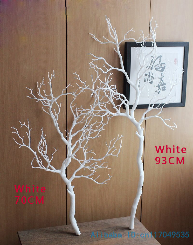 1 PCS Height 70cm Or 90cm Artificial Green Blue White Plastic Small Tree Dried Branch Plant Home Wedding Decoration Gift F322