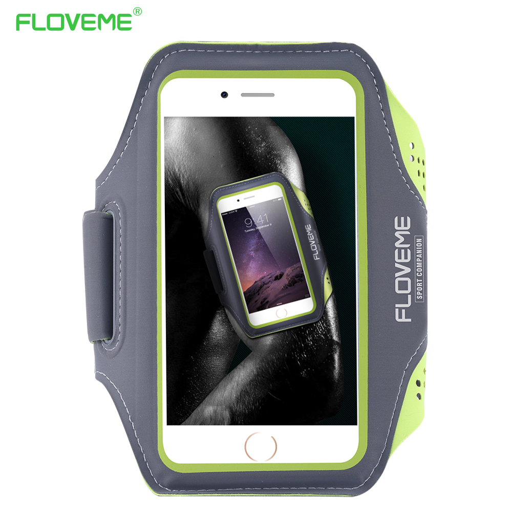 Floveme 5.5 Universal Waterproof Running Sport Armband For iPhone 6 Plus 6s Plus 7 8 Plus Cool Phone Case Punch Waterproof Cover