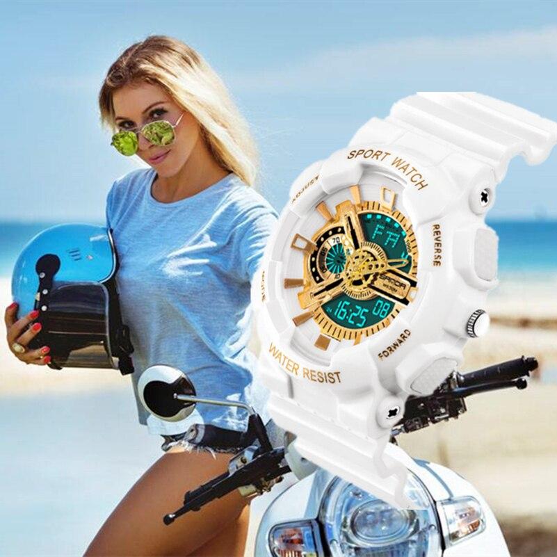 2018 Top Marke Sanda Analog Digital Uhr Männer Männlichen Armee Militär Sport Uhren Frauen Wasserdicht Casual Kleid Uhr G Neue Schock Gute QualitäT Herrenuhren