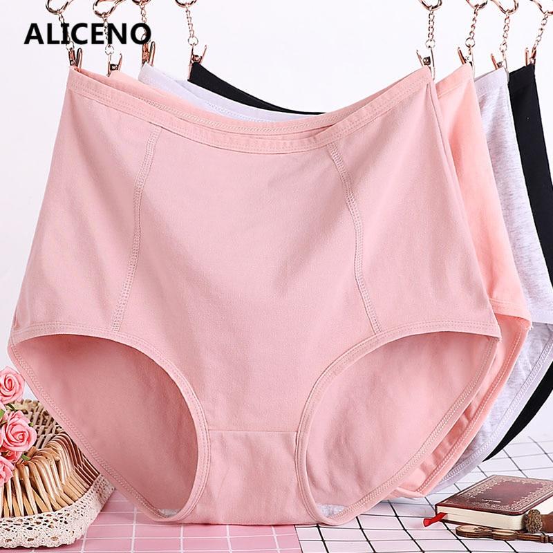 Image 2 - 3pcs/Lot Big Size XL 6XL Sexy High Waist Womens Cotton Solid Panties Breathable Briefs Underwear Lingerie Pantieswomens panties   -