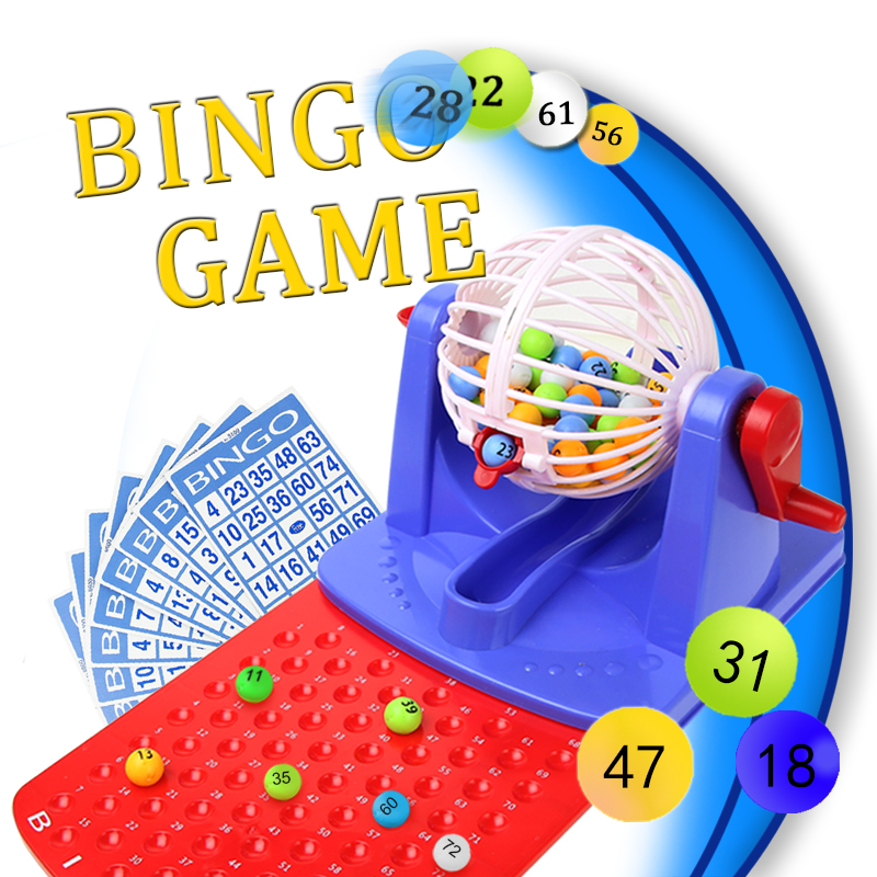 Kids Bingo Game Set Kit Toy Lottery Machine Lottery Toy Educational Game Party Game image
