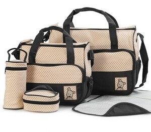 Image 4 - MOTOHOOD 39*28,5*17 см, 5 шт., сумка для подгузников для мамы, держатель для детской бутылочки, Мамины коляски, наборы сумок для подгузников для беременных