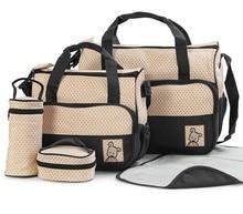 Deluxe Baby Diaper Bag, 5 Pcs Set