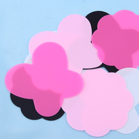 2PCs New Fashion Women DIY Silicone Paint Palette Mat Butterfly Plum Blossom Washable Nail Stamp Pads Nail Tool Beauty Hot Nail Art Accessories