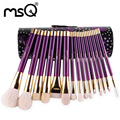 MSQ 15pcs Fashion Provence Makeup Brushes Set High Quality Goat Hair Natural Wood Handle Series With Diamond Cylinder