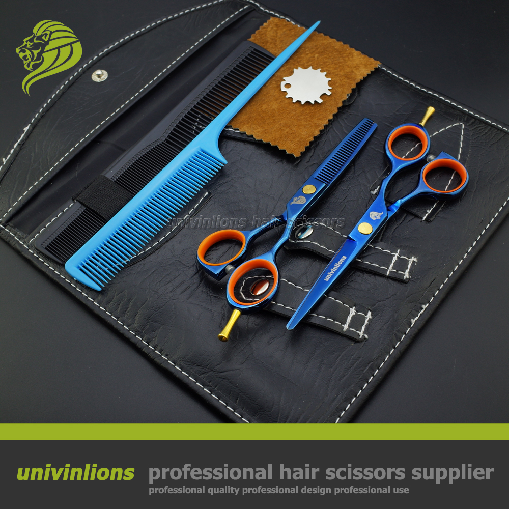 "5.5"" blue professional hair scissors hairdressing thinning scissors barber scissors japan hairdresser razor hot shears sissors"