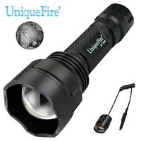 UniqueFire 1505 IR 850nm LED Flashlight Zoom Focus Invisible Light Infrared Torch With Dual Control Remote Pressure Switch