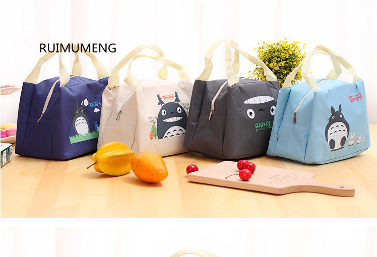 4Color- TOTORO 30CM Oxford Canvas Lunch BAG , NEW Handbag Lunch TOTE Pouch BOX