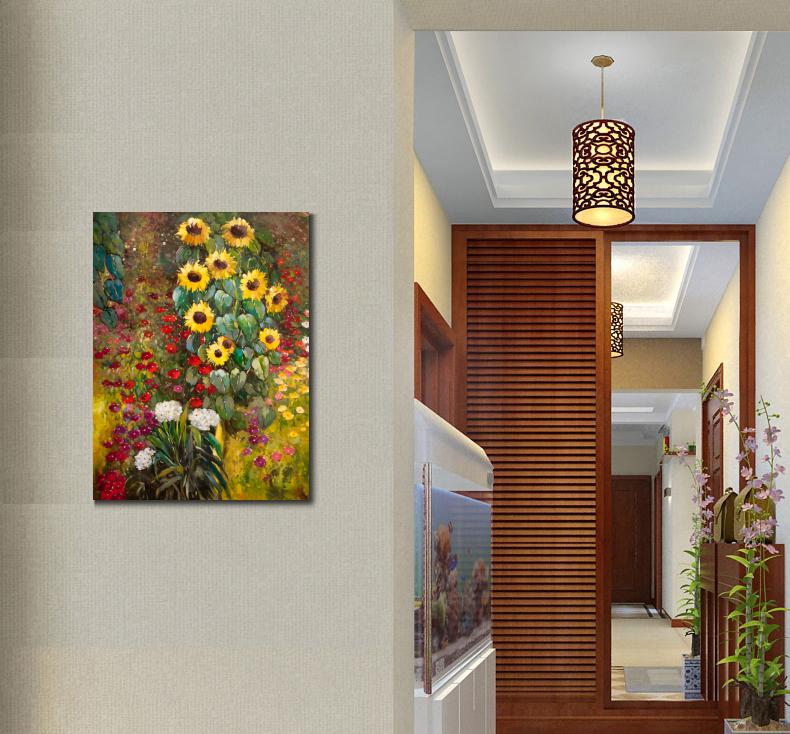 High Quality Gustav Klimt Paintings Farm Garden With Sunflowers Yellow Oil  On Canvas Hand Painted Flower Arts For Living Room In Painting U0026  Calligraphy From ...