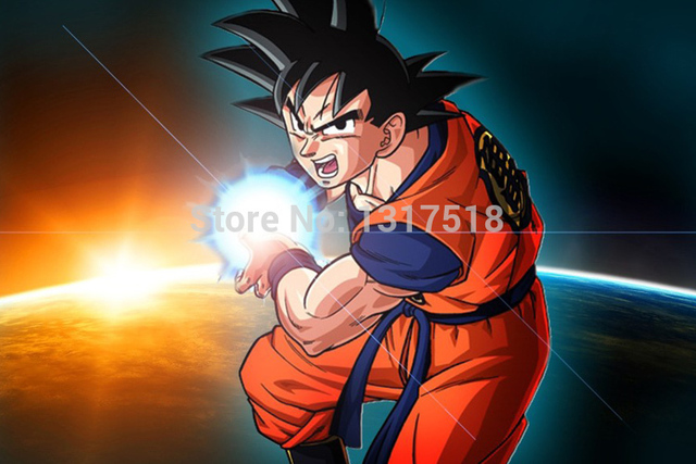 Shunqian goku kamehameha dragon ball z poster living room for Dragon ball z living room