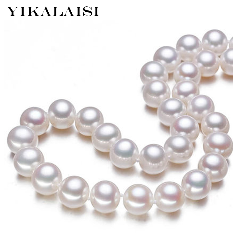 YIKALAISI 2017 100% natural Freshwater 9-10 mm pearl necklace 925 sterling silver jewelry high quality  jewelry for womenYIKALAISI 2017 100% natural Freshwater 9-10 mm pearl necklace 925 sterling silver jewelry high quality  jewelry for women