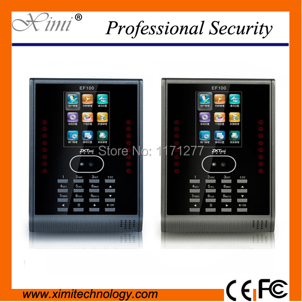 Linux system office equipment TCP/IP communication wall time clock EF100 face time attendance system employee attendance
