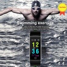 цена Smartband Bracelet Color Screen Fitness Tracker Sport IP68 Waterproof Remote Control Smart band for Android iOS Phone men women онлайн в 2017 году
