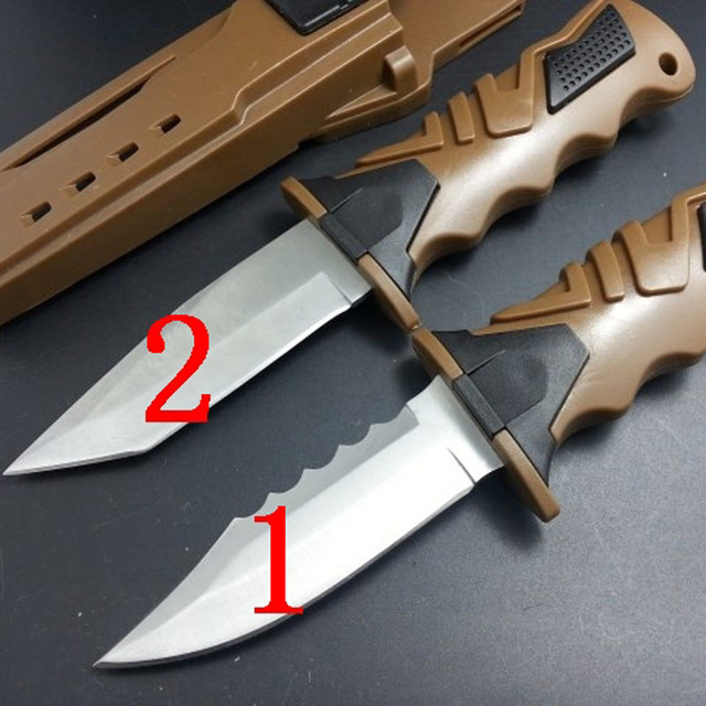 58HRC 440C Blade Professional diving Leggings outdoor tool strong survival font b hunting b font camping