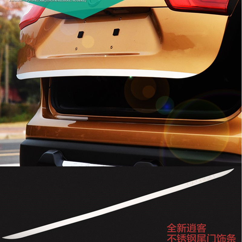 Rear Door Gate Trunk Streamer Cover Trim For Nissan Qashqai Dualis 2011-2013