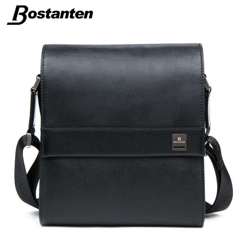 Bostanten Man Vertical Genuine Leather bag Men Messenger Business Men s Briefcase Designer Handbags High Quality