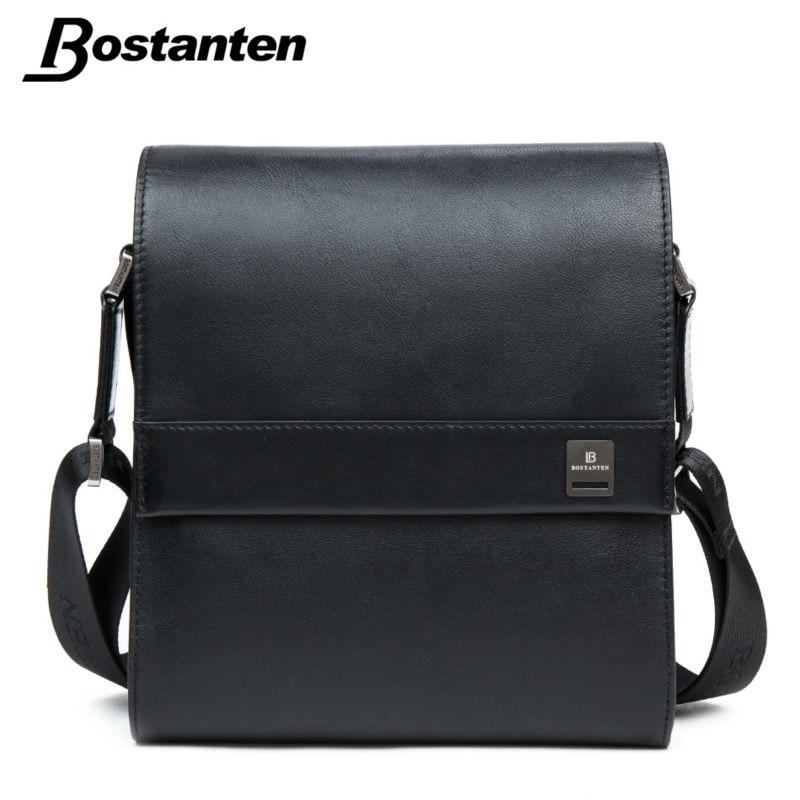 ca3addbb7f87 Bostanten Man Vertical Genuine Leather bag Men Messenger Business Men s  Briefcase Designer Handbags High Quality Shoulder