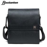 Bostanten رجل العمودي حقيبة جلد طبيعي رجل رسول حقيبة مصمم حقائب رجال الأعمال عالية الجودة حقائب الكتف