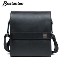 Bostanten Man Vertical Genuine Leather bag Men Messenger Business Men's Briefcase Designer Handbags High Quality Shoulder Bags