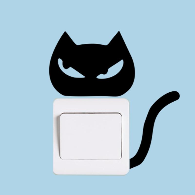 DIY Funny Cute Black Cat Dog Rat Mouse Animls Switch Decal Wall Stickers DIY Funny Cute Black Cat Dog Rat Mouse Animls Switch Decal Wall Stickers HTB1VR7KJpXXXXcnXXXXq6xXFXXXi
