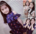Family fashion summer 2016 clothes for mother and daughter one-piece dress plus size print 100% cotton thin female child vest