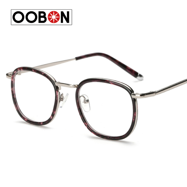 OOBON Brand Hot Women Men Big Round Glasses Frames Newest Purely ...