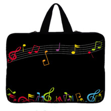 Music Note 9.7 10 12 13 15 inch  laptop bag tablet sleeve case with handle PC handbag 13.3 15.6 11 14 inch notebook cover pouch