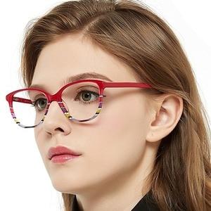 Image 4 - OCCI CHIARI Spring Hinges Prescription Lens Medical Optical Eyeglass Woman Frame Stripes Colorful Navy Red Italy Design W CORRU