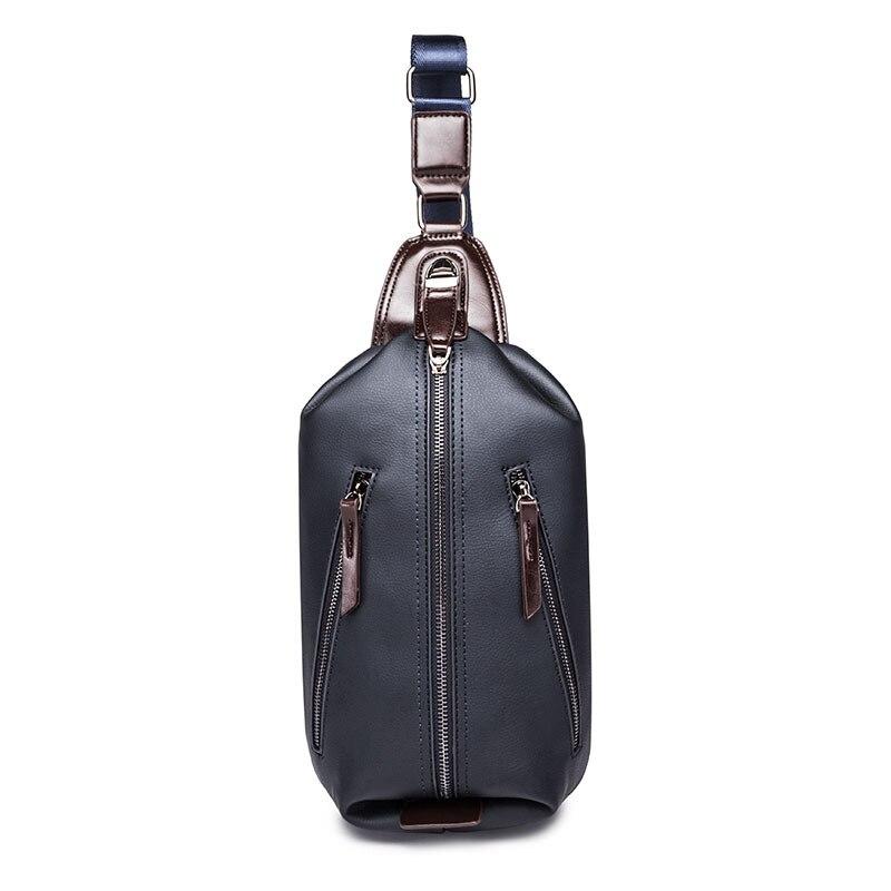 ФОТО New Fashion Men Military  Fanny Bags PU Leather Grenade Model Chest Pack Cross Body Sling Single Shoulder Bag