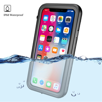 360 Full Protector for Apple iPhone X Case Crystal Back & Front Swimming Phone Cover for iPhonex Coque iPhone X Waterproof case