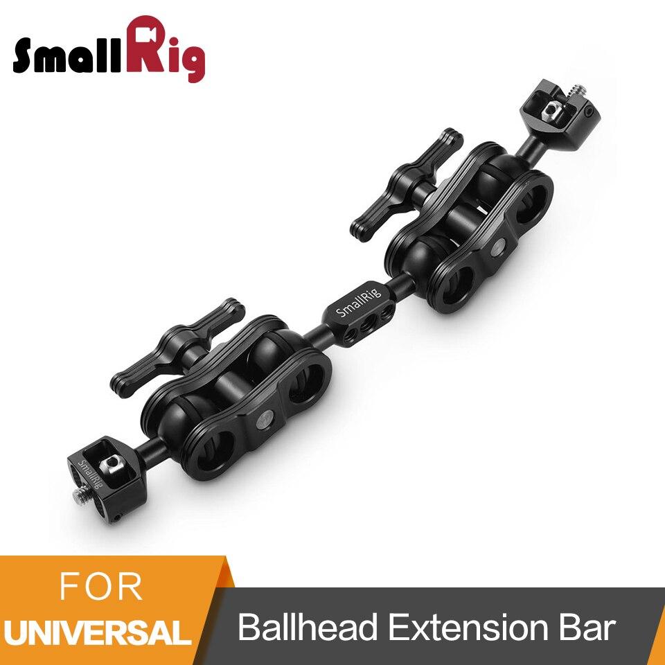 SmallRig BallHead Extension Bar for Magic Arms(1/4 Screws) With 2 BallHead Clamp To Mount LCD Monitor Magic Arm Clamp 2109
