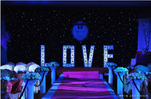 2017 3meter*6meter (10feet high by 20feet wide) Wedding starlight Backdrop Shiny Star curtain With Controller