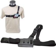 Gopro Аксессуары 3 Очка Регулируемый Нагрудный Ремень Крепление Ремня Жгут Грудь адаптер Для Gopro Hero 5 4 3 + 3 SJCAM M20 XIAOMI YI