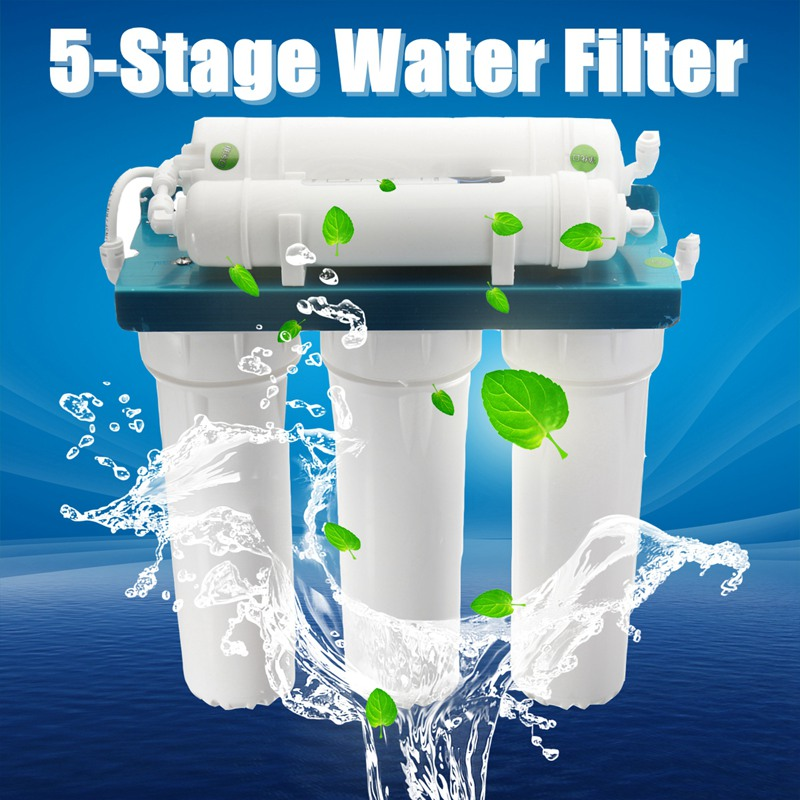 5  Ultrafiltration Water Purifier Home Kitchen Straight Drinking Filter PP Cotton Coconut Shell Wall-mounted ABS Shell